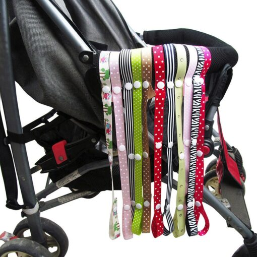 Baby Anti Drop Hanger Belt Holder Toys Pacifier Chain Stroller Strap Fixed Car Print Pacifier Chain 5