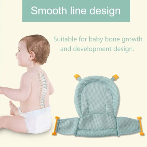 Baby Bath Mesh Seat Support Hammock Bathing Bathtub Infant Care Shower Adjustable Sling Net YH 17 2
