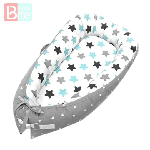 Baby Bed Baby Portable Crib Toddler Removable Baby Cribs Sleeping Bed Basket Bumpers Bumper Bed Safety