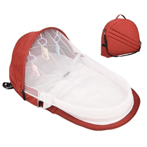 Baby Bed Travel Sun Protection Mosquito Net With Portable Bassinet Baby Foldable Breathable Infant Sleeping Basket 2