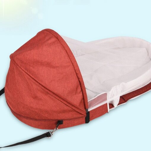 Baby Bed Travel Sun Protection Mosquito Net With Portable Bassinet Baby Foldable Breathable Infant Sleeping Basket 4