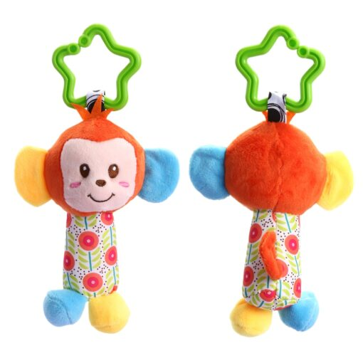 Baby Bed Wind Stroller Hanging Rattles Safety Stuffed Animal Baby Pram Rattle Toys for 0 12M 1