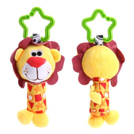 Baby Bed Wind Stroller Hanging Rattles Safety Stuffed Animal Baby Pram Rattle Toys for 0 12M 2