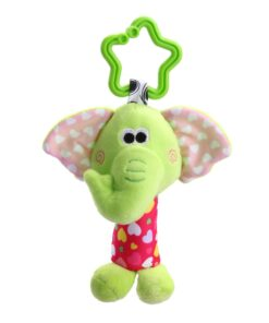 Baby Bed Wind Stroller Hanging Rattles Safety Stuffed Animal Baby Pram Rattle Toys for 0 12M 4