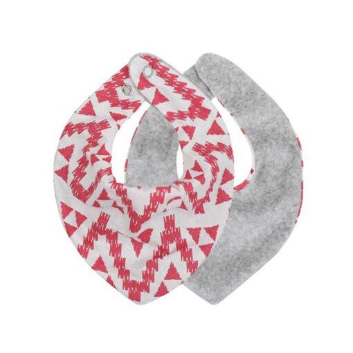 Baby Bib Fashionable Floral Print Cotton Bib Adjustable Infant Burp Cloth for Drooling 4