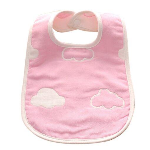 Baby Bib Printing Washable U Absorbent Drool Towel Soft Bib Gauze Saliva Towel Color Cute Unisex 3