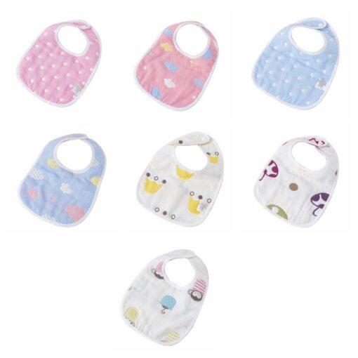 Baby Bib Printing Washable U Absorbent Drool Towel Soft Bib Gauze Saliva Towel Color Cute