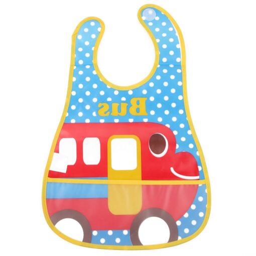 Baby Bibs Burp Cloth Stereoscopic Pinafore EVA Waterproof Overclothes Cartoon Lunch Bibs Feeding Bandanas Infant Saliva 2