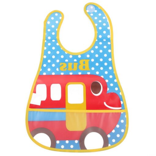 Baby Bibs Burp Cloth Stereoscopic Pinafore EVA Waterproof Overclothes Cartoon Lunch Bibs Feeding Bandanas Infant Saliva 8