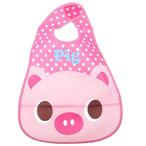 Baby Bibs Burp Cloth Stereoscopic Pinafore EVA Waterproof Overclothes Cartoon Lunch Bibs Feeding Bandanas Infant Saliva 9