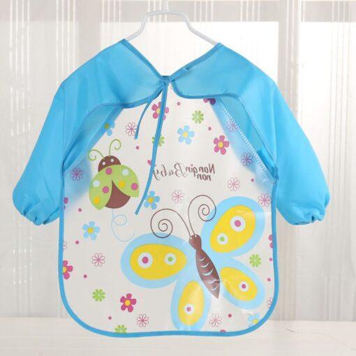 Baby Bibs Burp Clothes Bib Waterproof Long Sleeve Kids Boys Girls Feeding Bibs Apron Saliva Towel 3