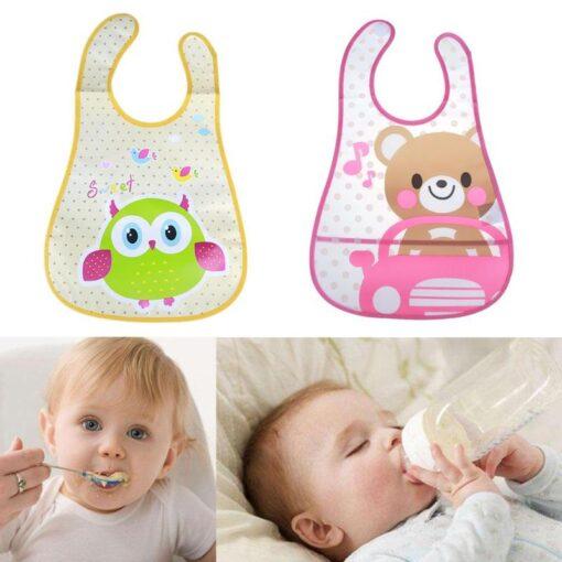 Baby Bibs Cute Cartoon Baby Kids Bibs Waterproof Saliva Towel Feeding Lunch Bandana Apron Bibs Burp 1