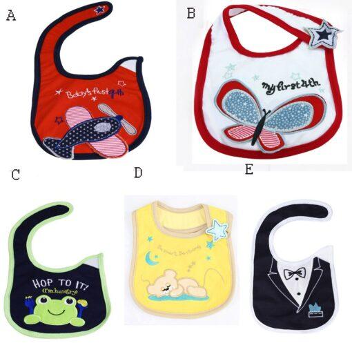 Baby Bibs Cute Cartoon Pattern Baby Newborn Infants Kids Bandana Toddler Cotton Waterproof Bibs Saliva Towel 4