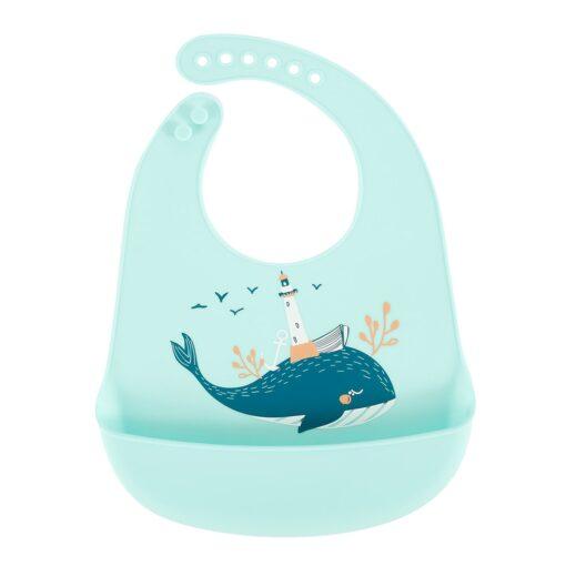 Baby Bibs Feeding Burp Waterproof Silicone Baby Bibs Cloths Toddler Kids Boys Adjustable Feed Apron Saliva 1