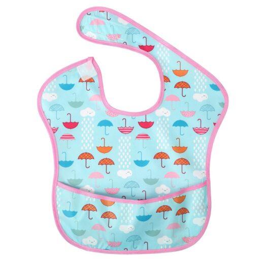 Baby Bibs Newborn Kid Infants Waterproof Stain Resistant Bib With Pocket Saliva Towel Baby Feeding Baberos 5
