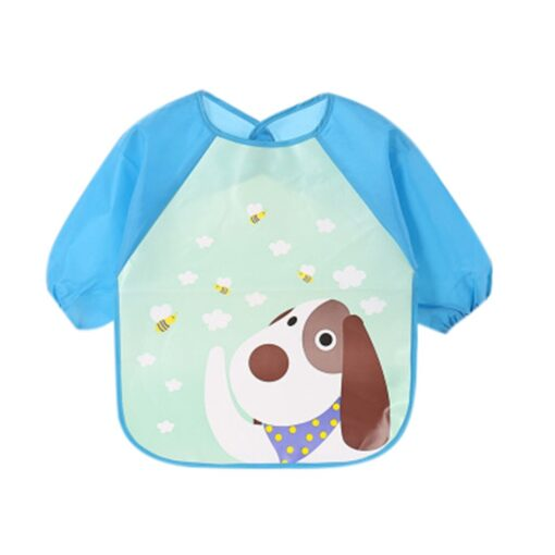 Baby Bibs Toddler Boy Girl Long Sleeve Letter Waterproof Feeding Art Apron Smock Baby Toddler Long 1