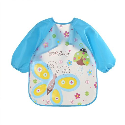 Baby Bibs Toddler Boy Girl Long Sleeve Letter Waterproof Feeding Art Apron Smock Baby Toddler Long 4