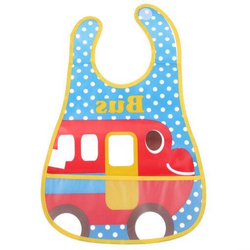 Baby Bibs Waterproof EVA Baby Infants Pinafore Overclothes Feeding Bundana Bibs Feeding Kids Towel Print Apron 2