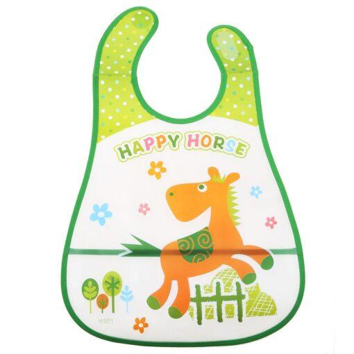 Baby Bibs Waterproof EVA Baby Infants Pinafore Overclothes Feeding Bundana Bibs Feeding Kids Towel Print Apron 5