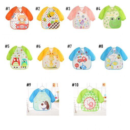 Baby Bibs Waterproof Long Sleeve Apron Cute Feeding Smock Bib Baby Care Stuff Accessories Children Feeding 1