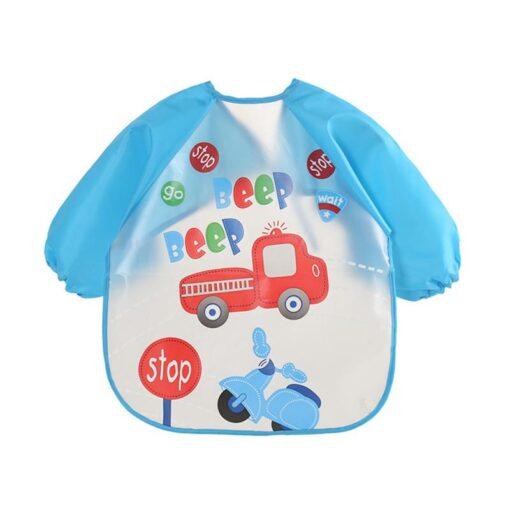 Baby Bibs Waterproof Long Sleeve Apron Cute Feeding Smock Bib Baby Care Stuff Accessories Children Feeding 2