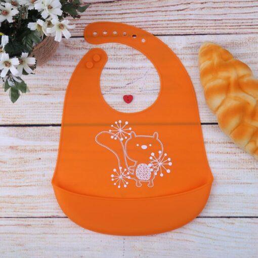Baby Bibs Waterproof Silicone Feeding Baby Saliva Towel Newborn Cartoon Aprons Baby Bibs Adjustable Different styles 2