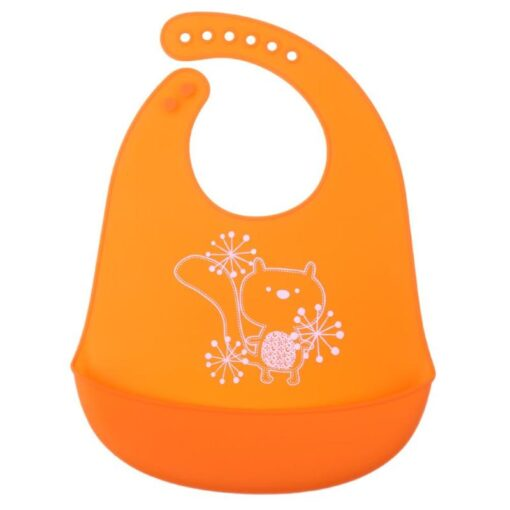 Baby Bibs Waterproof Silicone Feeding Baby Saliva Towel Newborn Cartoon Aprons Baby Bibs Adjustable Different styles 4