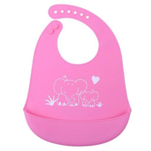 Baby Bibs Waterproof Silicone Feeding Baby Saliva Towel Newborn Cartoon Aprons Baby Bibs Adjustable Different styles 5