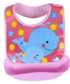 Baby Bibs Waterproof Silicone Feeding Baby Saliva Towel Newborn Cartoon Aprons Baby Bibs Detachable Cloths Bandana 1