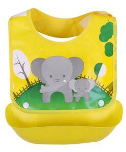 Baby Bibs Waterproof Silicone Feeding Baby Saliva Towel Newborn Cartoon Aprons Baby Bibs Detachable Cloths Bandana 2