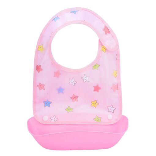 Baby Bibs Waterproof Silicone Feeding Baby Saliva Towel Newborn Cartoon Aprons Baby Bibs Detachable Cloths Bandana 3