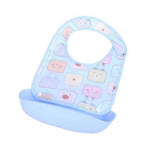 Baby Bibs Waterproof Silicone Feeding Baby Saliva Towel Newborn Cartoon Aprons Baby Bibs Detachable Cloths Bandana 4