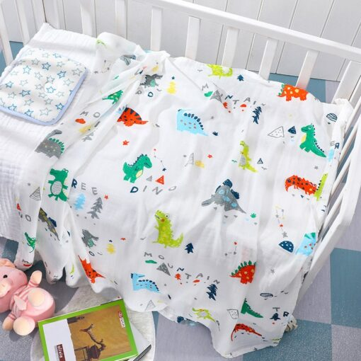 Baby Blanket Bath Towel Bamboo Swaddle Blanket Diaper Gauze Muslin Blanket 120 Baby Blankets Newborn Blanket 2
