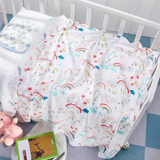 Baby Blanket Bath Towel Bamboo Swaddle Blanket Diaper Gauze Muslin Blanket 120 Baby Blankets Newborn Blanket 3