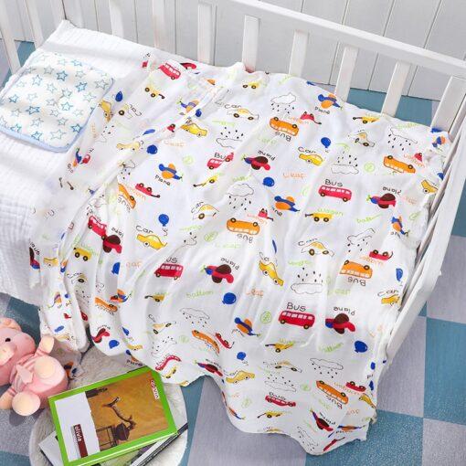 Baby Blanket Bath Towel Bamboo Swaddle Blanket Diaper Gauze Muslin Blanket 120 Baby Blankets Newborn Blanket 4