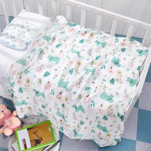 Baby Blanket Bath Towel Bamboo Swaddle Blanket Diaper Gauze Muslin Blanket 120 Baby Blankets Newborn Blanket 5