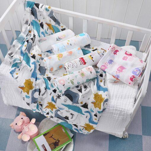 Baby Blanket Bath Towel Bamboo Swaddle Blanket Diaper Gauze Muslin Blanket 120 Baby Blankets Newborn Blanket