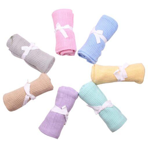Baby Blanket Cotton Super Soft Kids Month Blankets Newborn Swaddle Infant Wrap Bath Towel Girl Boy 7