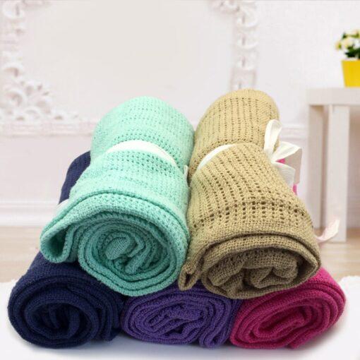 Baby Blanket Cotton Super Soft Kids Month Blankets Newborn Swaddle Infant Wrap Bath Towel Girl Boy 8
