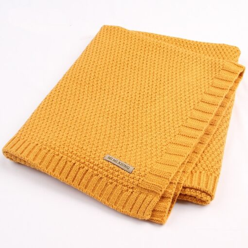 Baby Blanket Knitted Newborn Blankets Super Soft Stroller Wrap Infant Swaddle Kids Inbakeren Stuff For Monthly 2