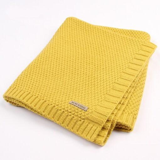 Baby Blanket Knitted Newborn Blankets Super Soft Stroller Wrap Infant Swaddle Kids Inbakeren Stuff For Monthly 3