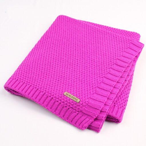 Baby Blanket Knitted Newborn Blankets Super Soft Stroller Wrap Infant Swaddle Kids Inbakeren Stuff For Monthly 4