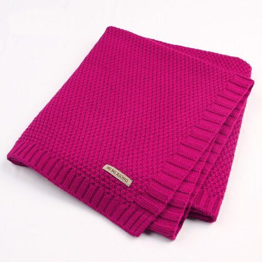 Baby Blanket Knitted Newborn Blankets Super Soft Stroller Wrap Infant Swaddle Kids Inbakeren Stuff For Monthly 5