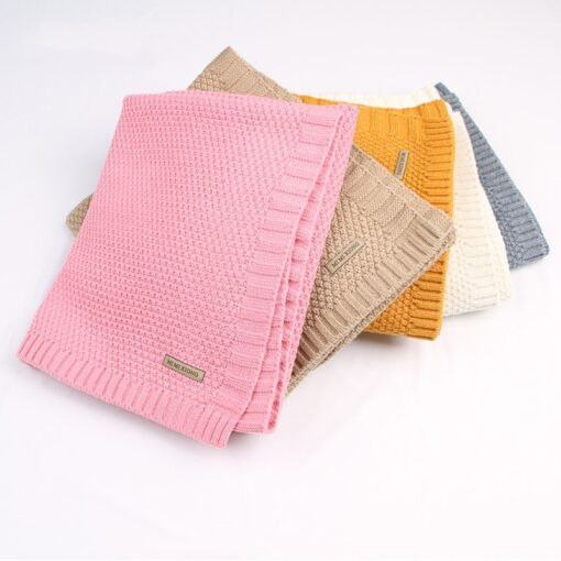 Baby Blanket Knitted Newborn Blankets Super Soft Stroller Wrap Infant Swaddle Kids Inbakeren Stuff For Monthly