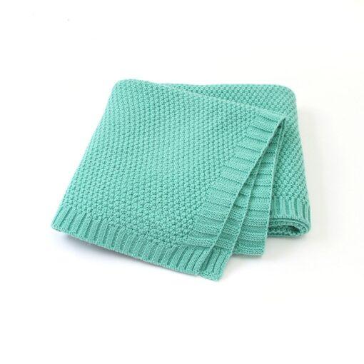 Baby Blanket Knitted Newborn Swaddle Wrap Blankets Super Soft Toddler Infant Bedding Quilt for Bed Sofa 10