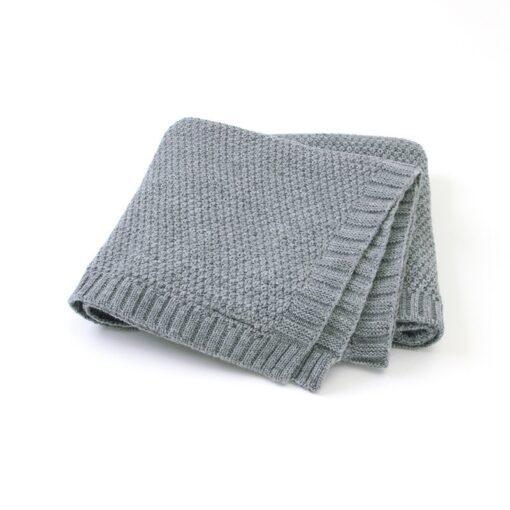 Baby Blanket Knitted Newborn Swaddle Wrap Blankets Super Soft Toddler Infant Bedding Quilt for Bed Sofa 8