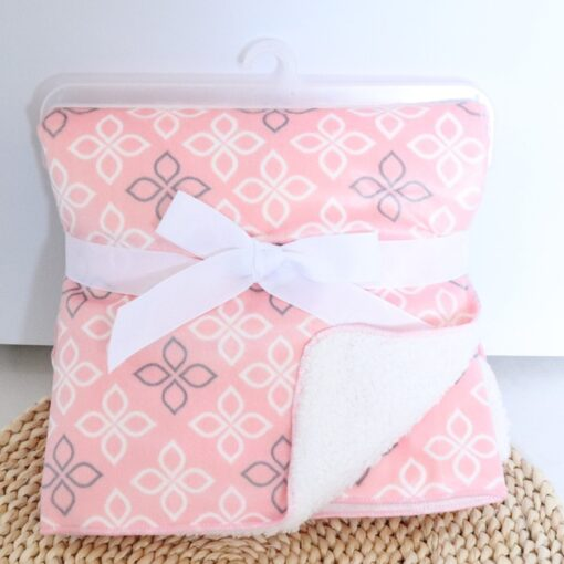 Baby Blanket New Brand Thicken Double Layer Coral Fleece Infant Swaddle Envelope Stroller Wrap For Newborn 3