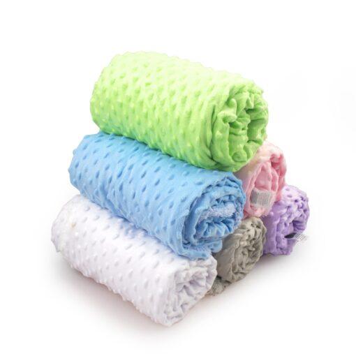 Baby Blanket Swaddling Newborn Thermal Soft Fleece Blanket Winter Solid Bedding Set Cotton Quilt Infant Bedding 1