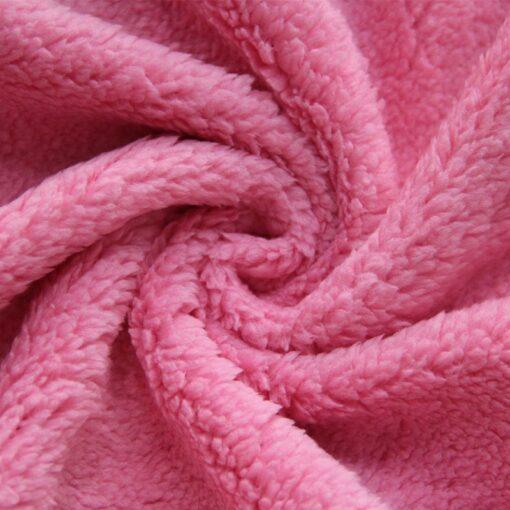 Baby Blanket Swaddling Newborn Thermal Soft Fleece Blanket Winter Solid Bedding Set Cotton Quilt Infant Bedding 4