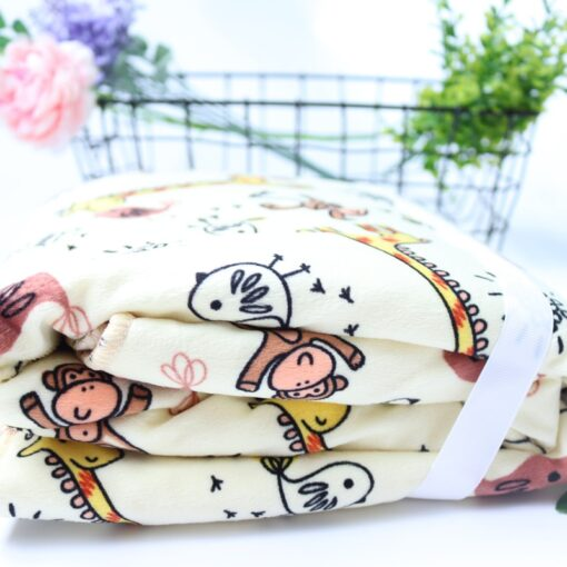 Baby Blankets New Thicken Double Layer Coral Fleece Infant Swaddle Bebe Envelope Wrap Owl Printed Newborn 5